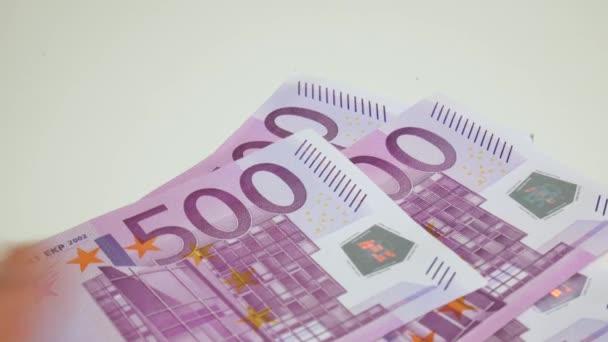 Evropské unie bankovky, pozadí. Měně euro. Hotovostní peníze