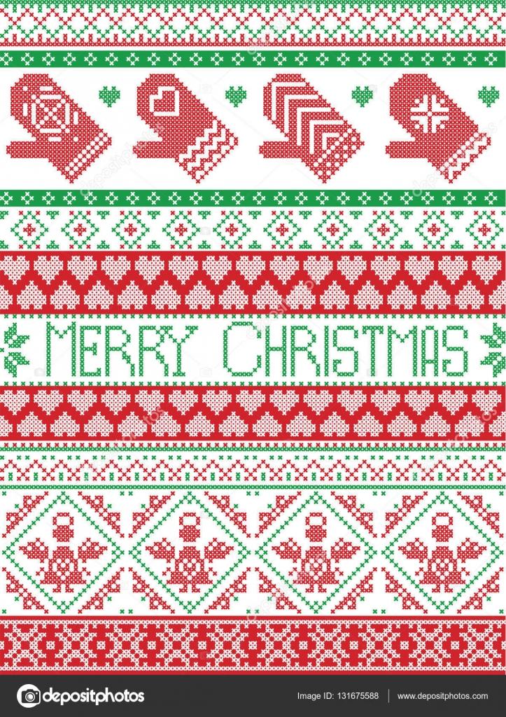 Feliz Navidad alto impreso escandinavo estilo inspirado por Navidad ...