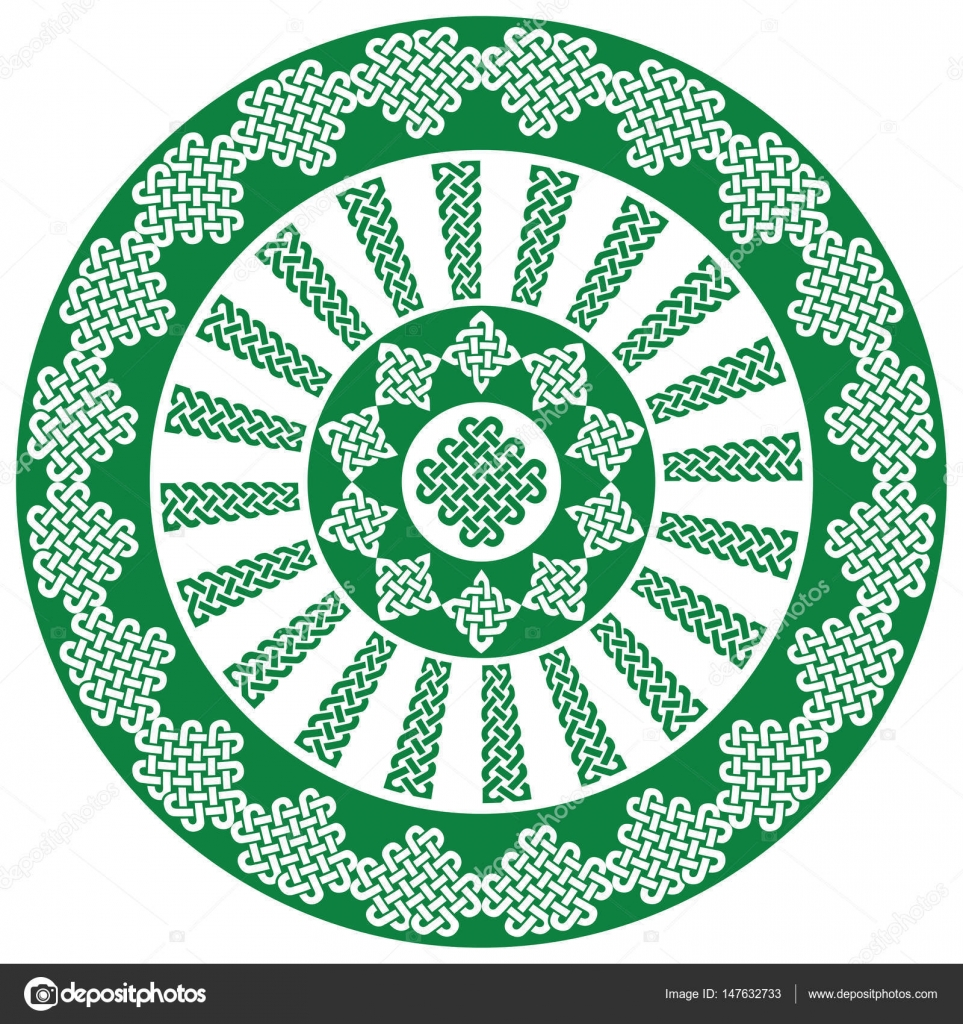 Mandala style celtic style endless knot symbols in white and green mandala style celtic style endless knot symbols in white and green inspired by irish st patricks day and irish and scottish carving art vector by buycottarizona