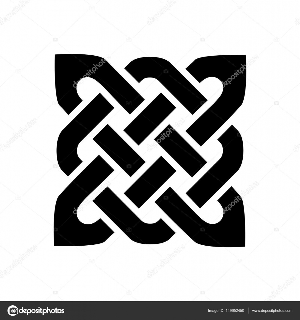 Celtic style square shape element based on eternity knot patterns celtic style square shape element based on eternity knot patterns in black on white background inspired by irish st patricks day and irish and scottish buycottarizona