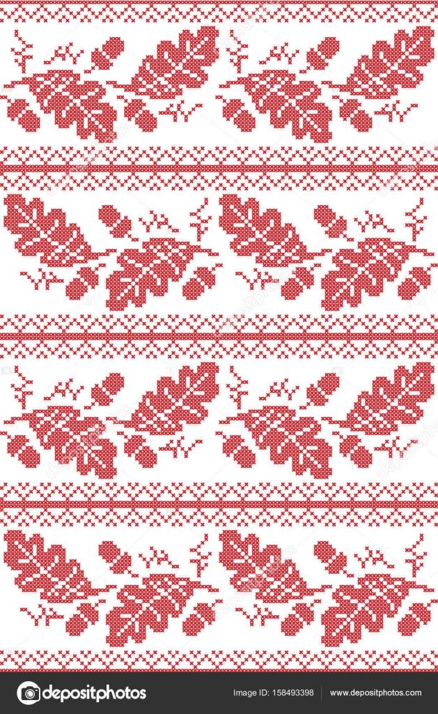 Folk escandinavo y noruego inspirado de patrones sin fisuras otoño ...