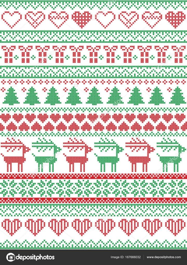 Skandinavisch, nordischen Stil Winter Naht Weihnachten Muster wie ...