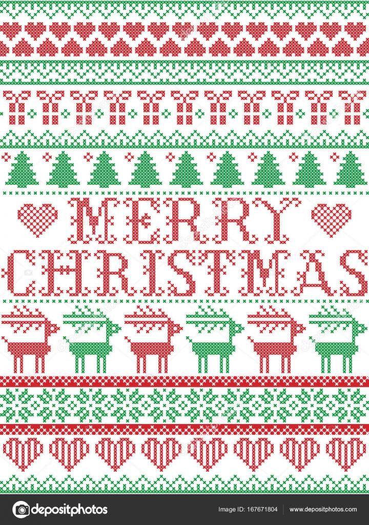 Frohe Weihnachten skandinavischen, nordischen Stil Winter Naht ...