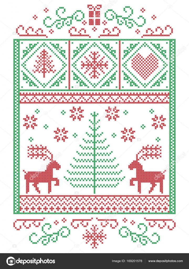 Elegante skandinavische Weihnachten, nordischen Stil Winter Naht ...