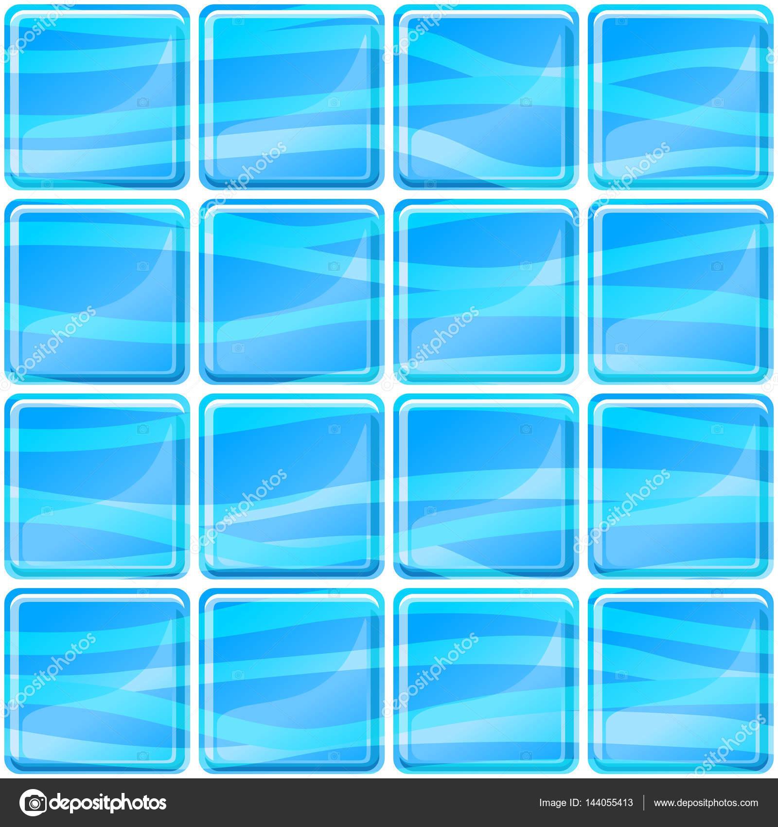 Blaue Fliesen: Blaue Fliesen Textur Nahtlose Darstellung