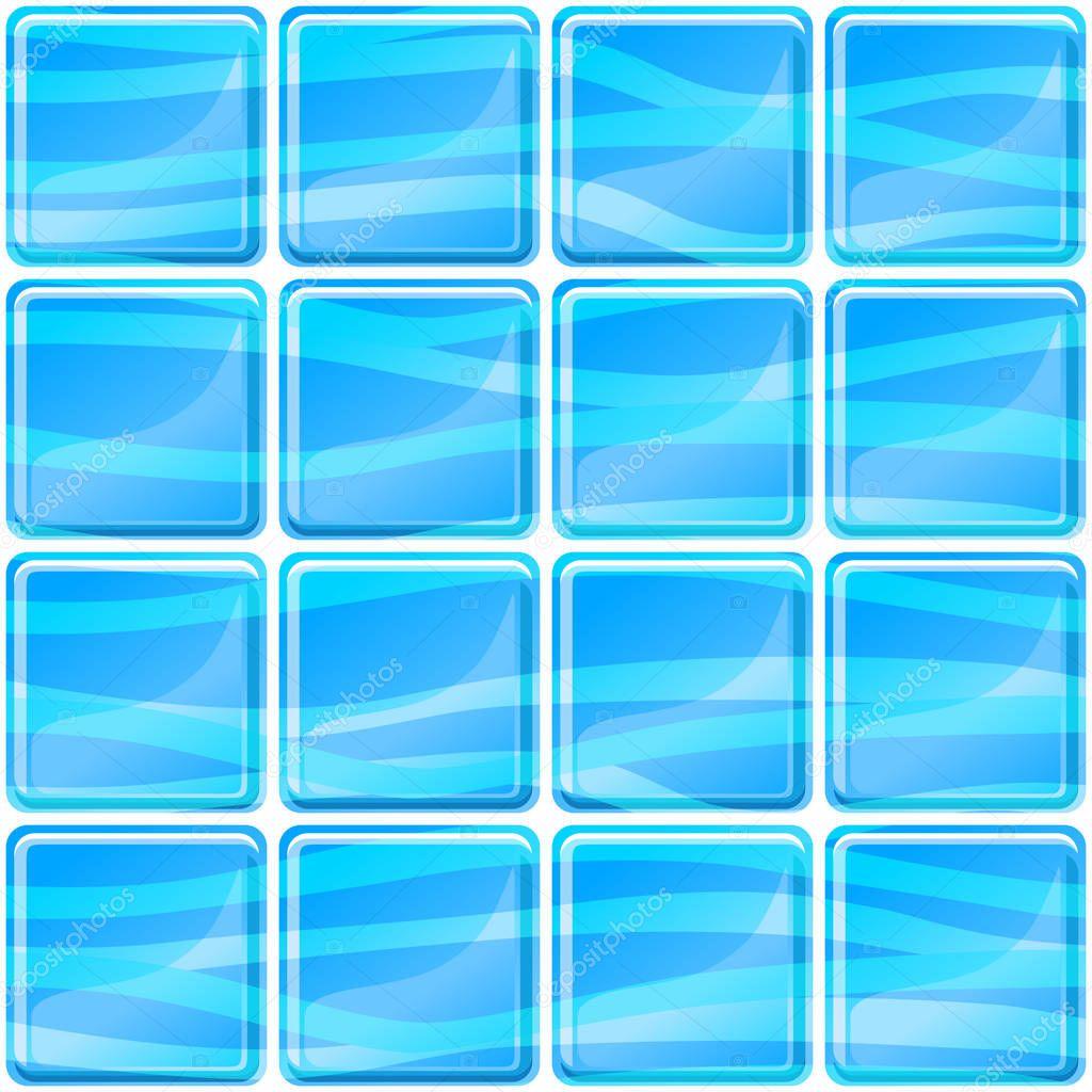 Blaue Fliesen Textur Nahtlose Darstellung