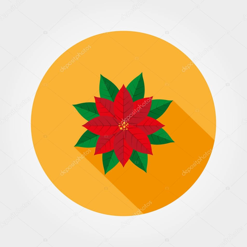 Weihnachtsstern. Weihnachtsstern Vektor icon — Stockvektor © elen88 ...