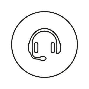 Vector headphones icon.