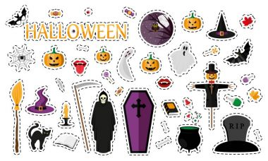 Halloween. Fashion patch badges.