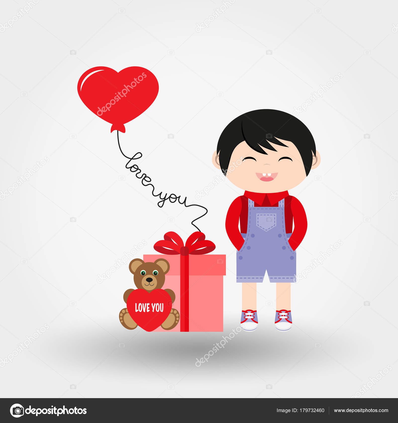 Baby Boy Valentine S Day Icon Vector Flat Stock Vector