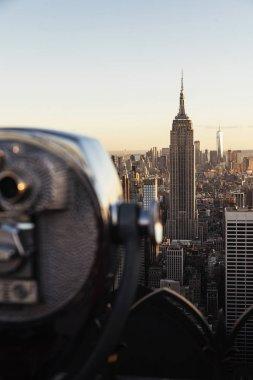 Binoculars  over New York City.