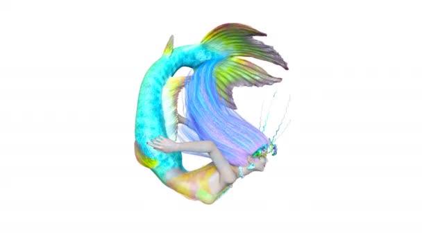 vykreslování 3D cg mořská panna