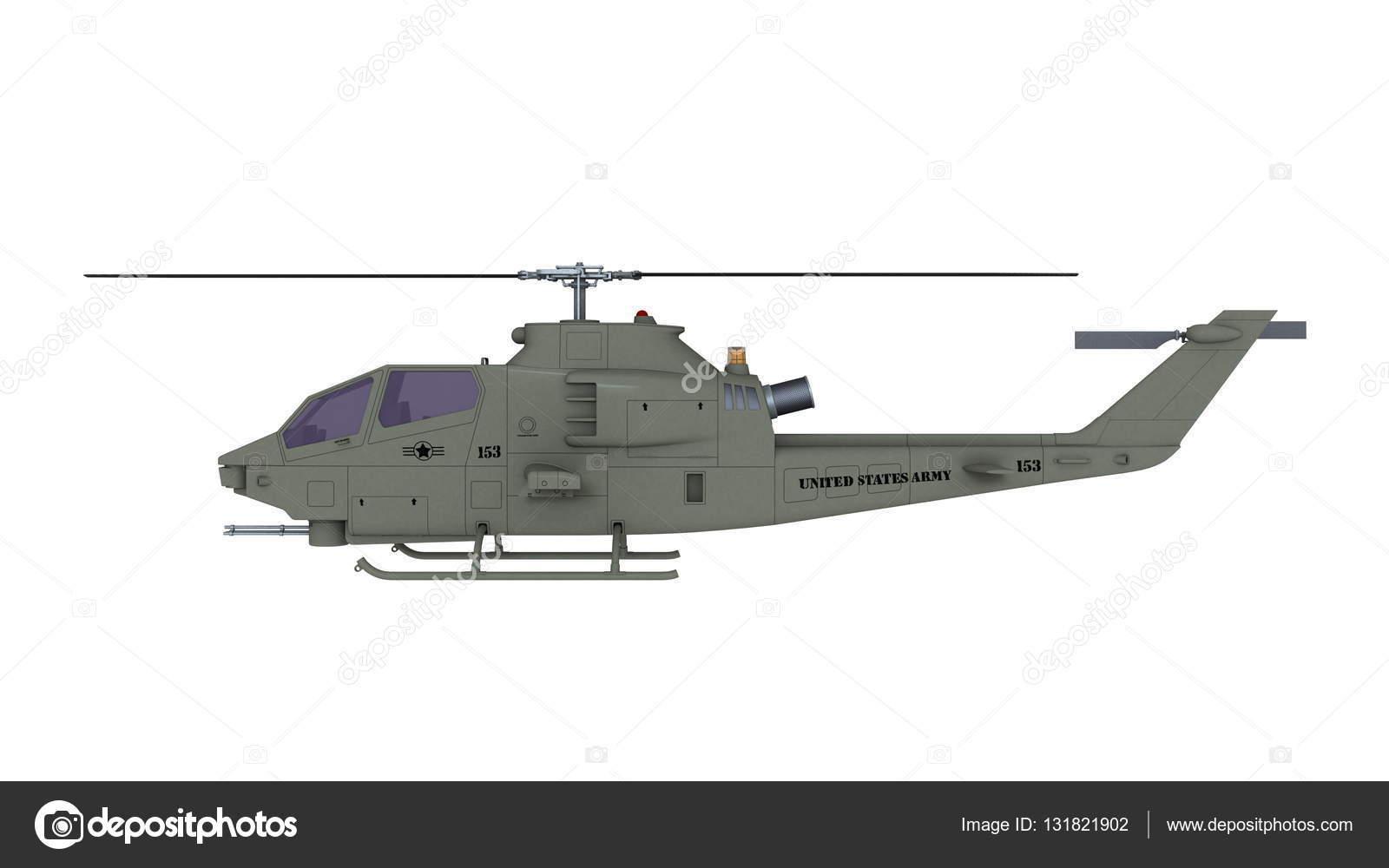 Elicottero 3d Model : Rendering d di un elicottero d oro su isolato su un backg bianco