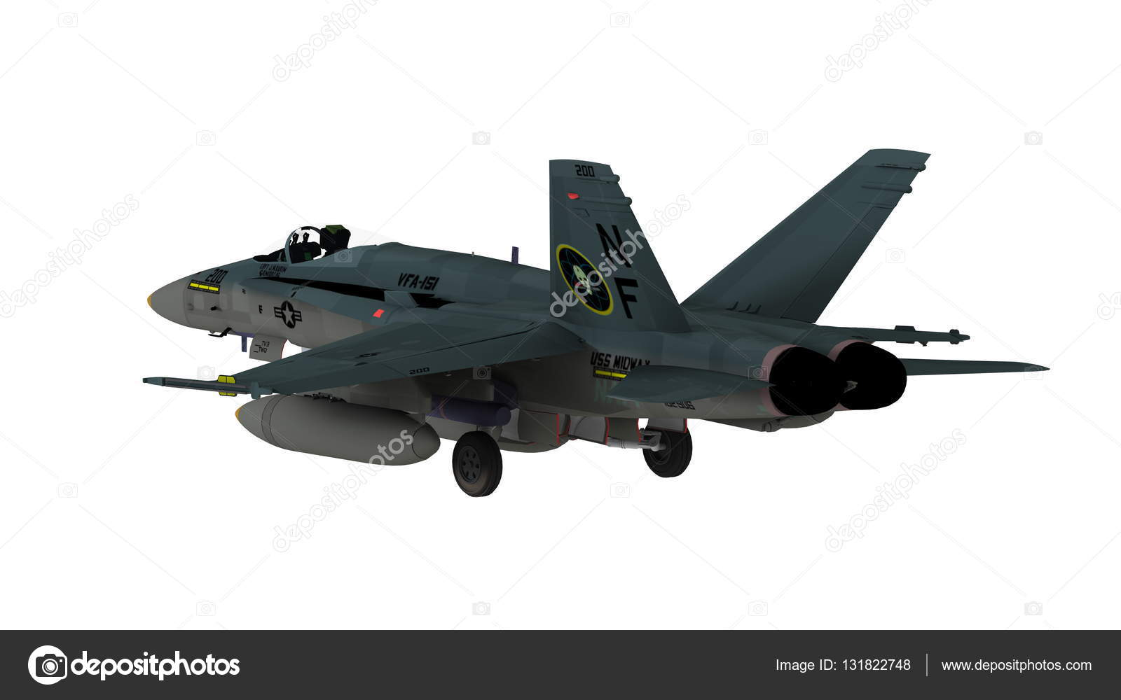 3D CG rendering of a fighter plane — Stock Photo © TsuneoMP #131822748