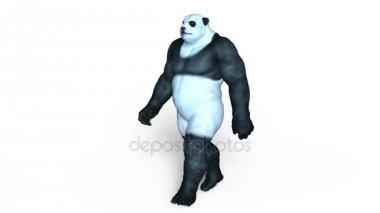 3D CG rendering of a panda man