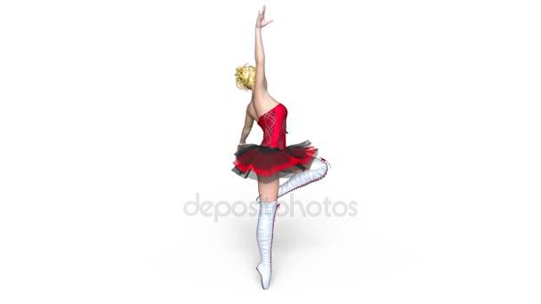 3D CG rendering of a ballet dancer