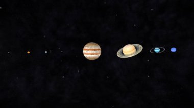 3D CG rendering of planets