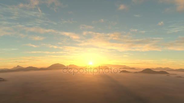 3D CG rendering of the mountain range