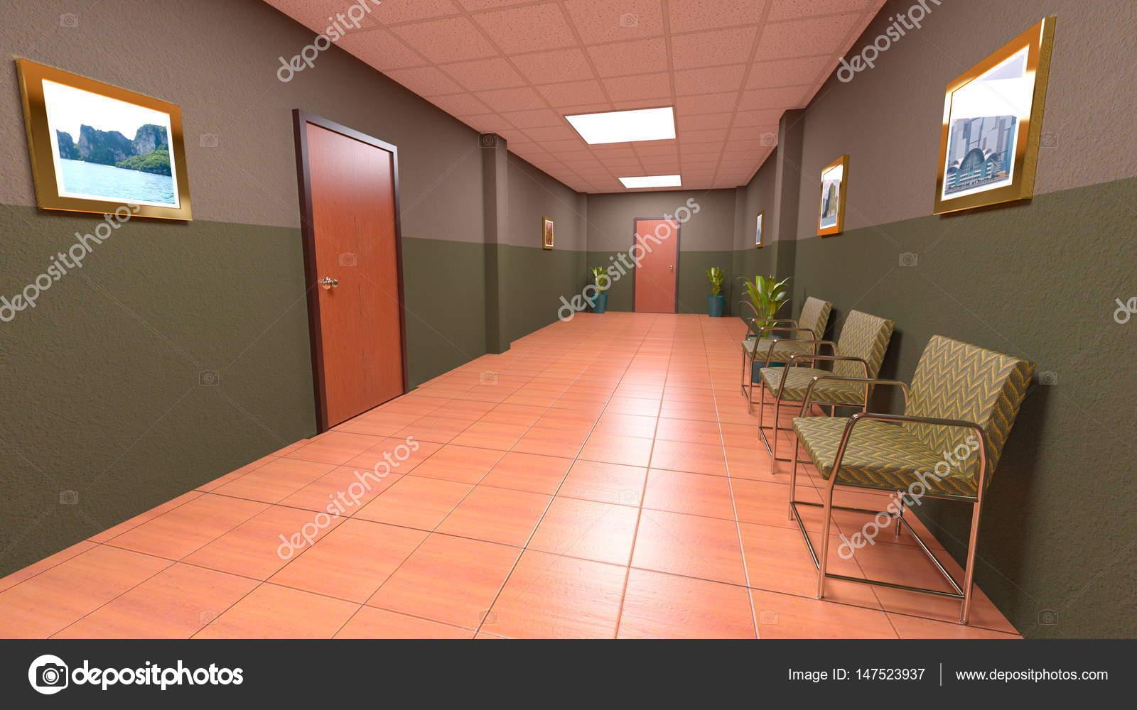 3d cg rendering van een corridor u2014 stockfoto © tsuneomp #147523937