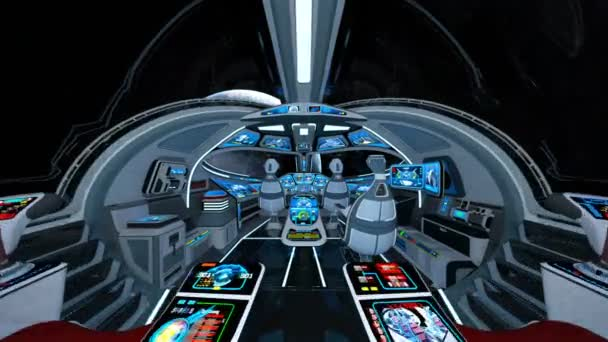 3D CG rendering of the space ship cockpit