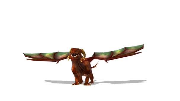 3D-s cg visszaadás-ból egy sárkány