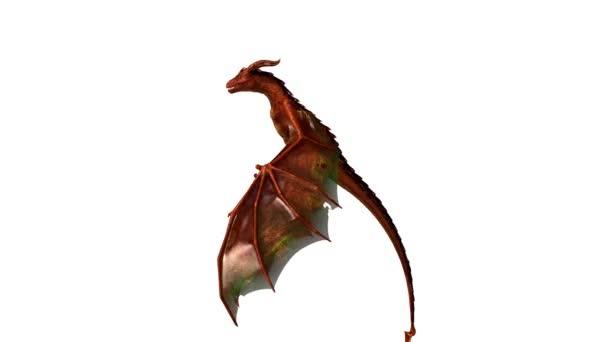 3D-s cg visszaadás-ból egy sárkány.