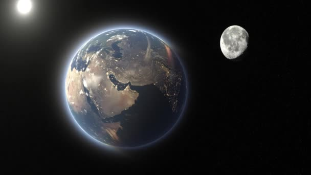 3D vykreslování cg země a měsíce. Prvky tohoto obrazu zařízené podle Nasa