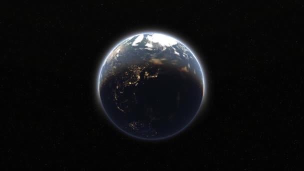3D vykreslování cg země. Prvky tohoto obrázku jsou podle Nasa.