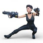 Female warrior / 3D CG rendering of a female warrior.