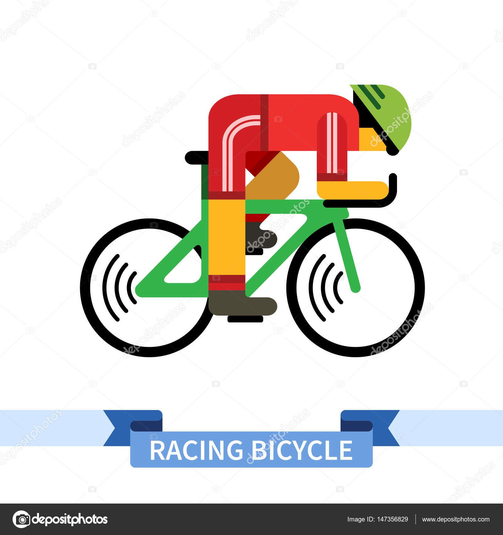 Vettore Clipart Bici Da Corsa Ciclista Sulla Bici Da Corsa