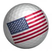 Photo USA flag on golf ball