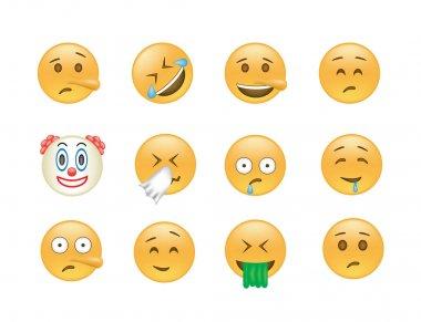 Set of Emoticon vector.