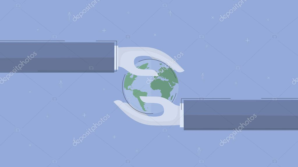 Global business. Concept business vector