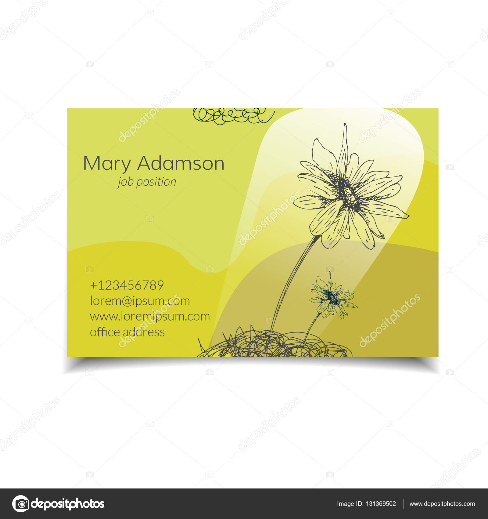 Carte De Visite Fleur Illustration Stock