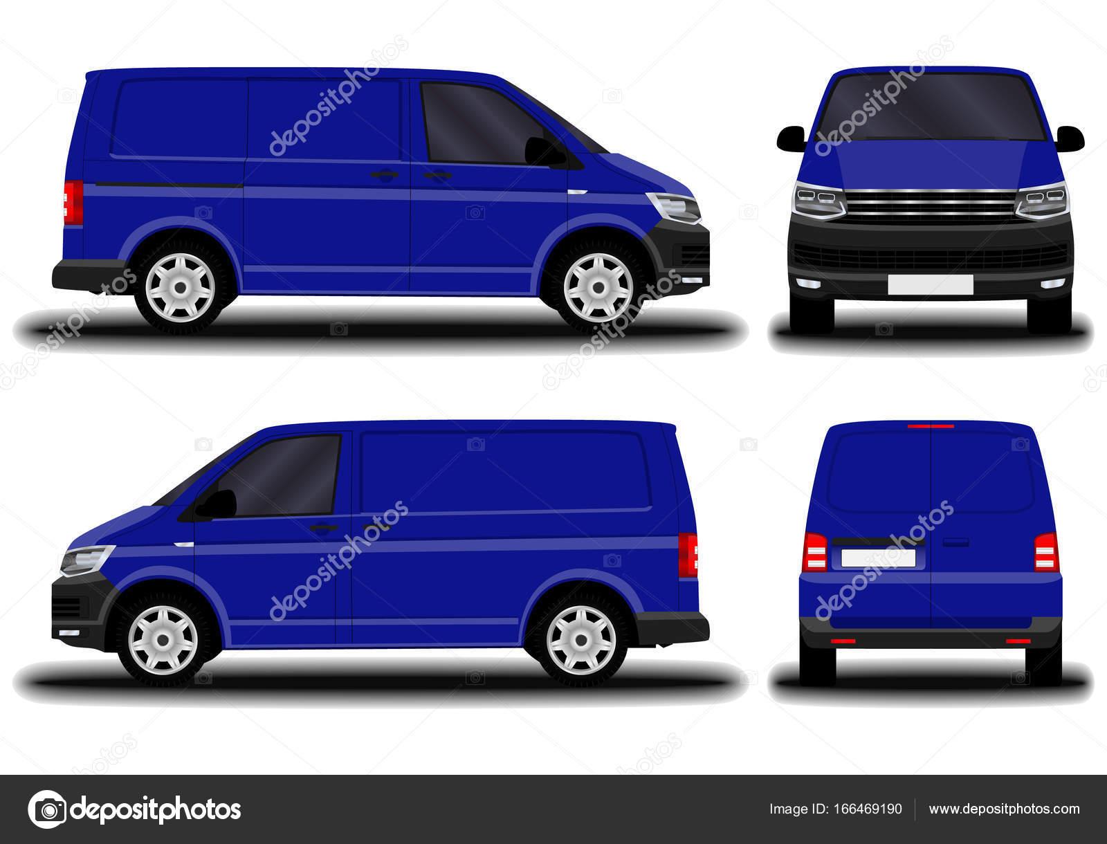 Realistic Cargo Van Stock Vector C Chel11 166469190