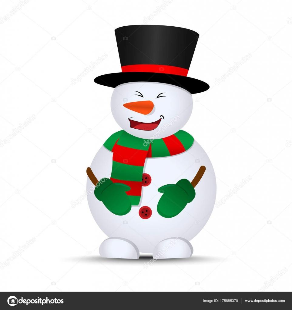 Joyeux Noël Bonhomme Neige Vecteur — Image vectorielle ...