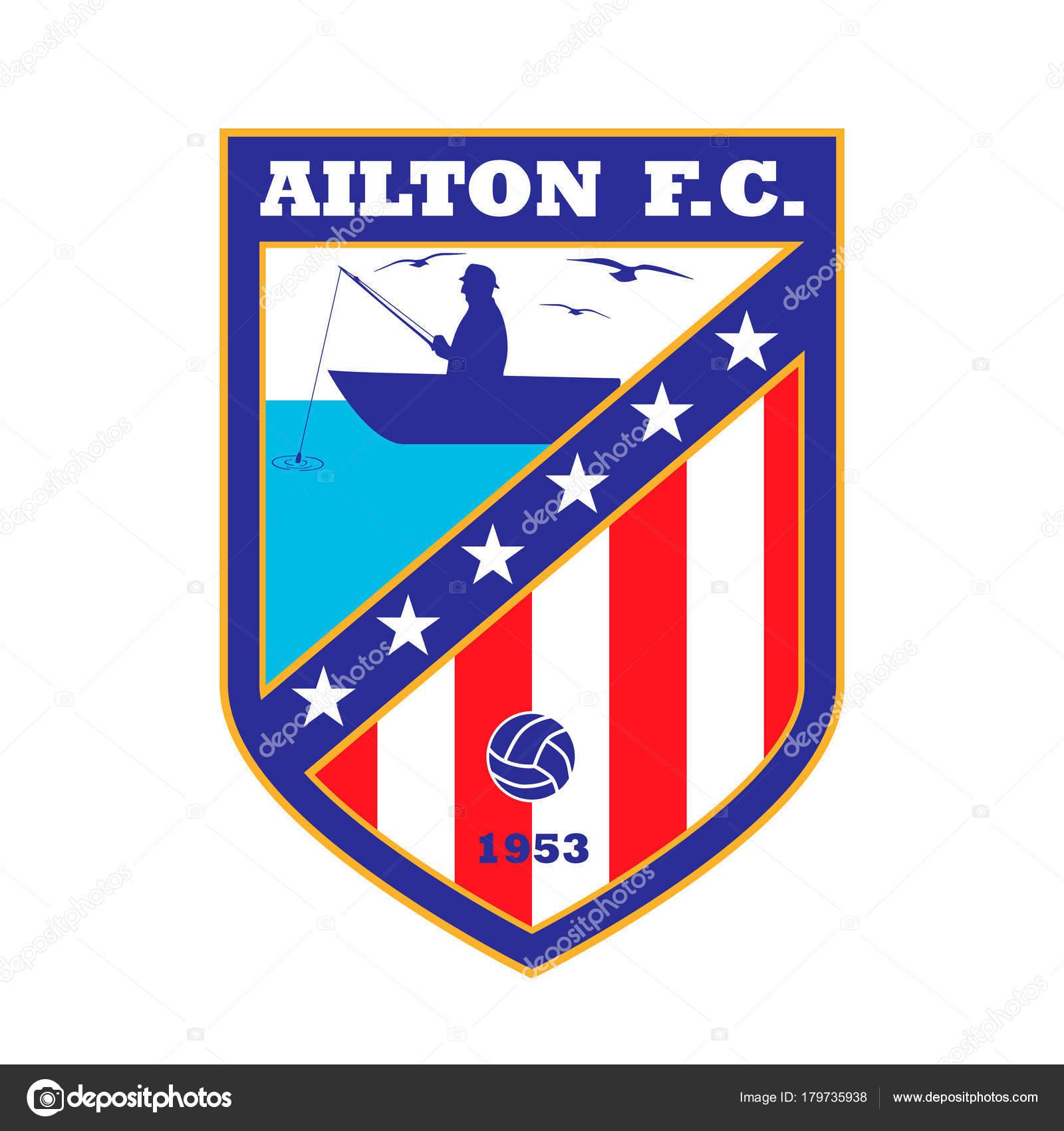 Fussball Team Logo Den Namen Und Die Farbe Fiktive Hier