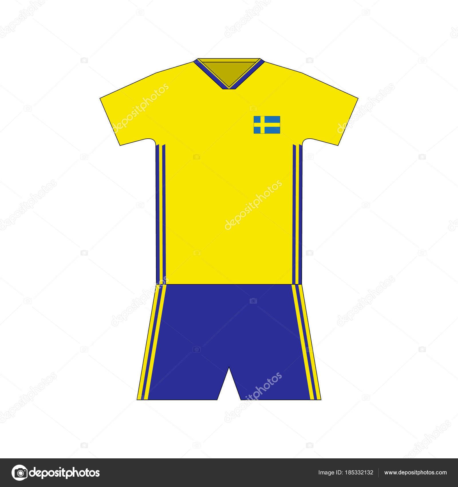 Football Kit Sweden 2018 Stock Vector C Chel11 185332132