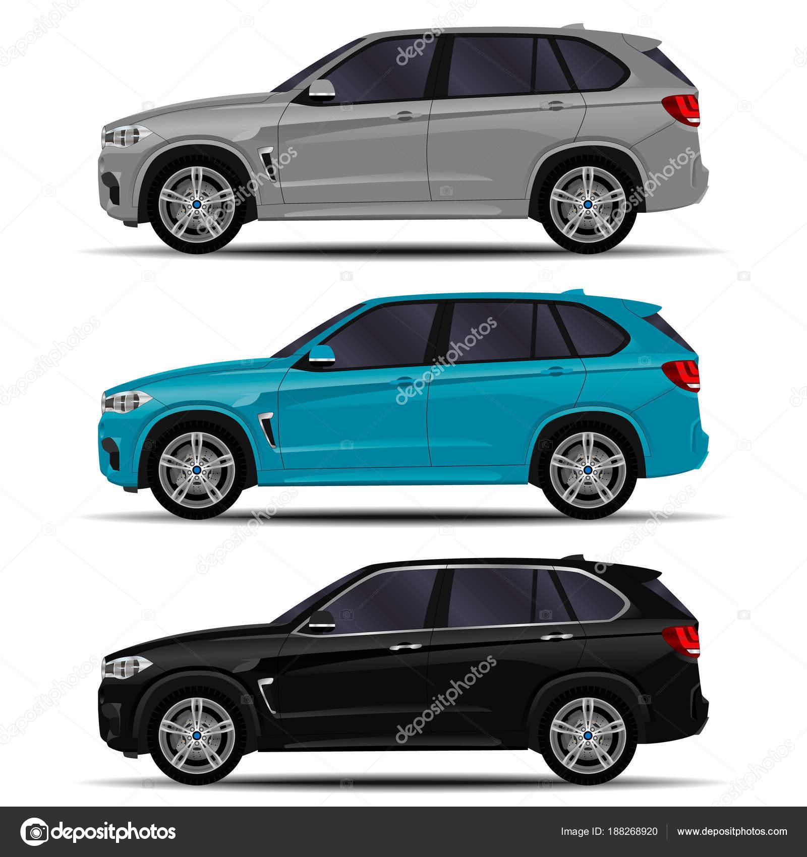 Carros Suv Realista Definido Vista Lateral Vetores De Stock C Chel11 188268920