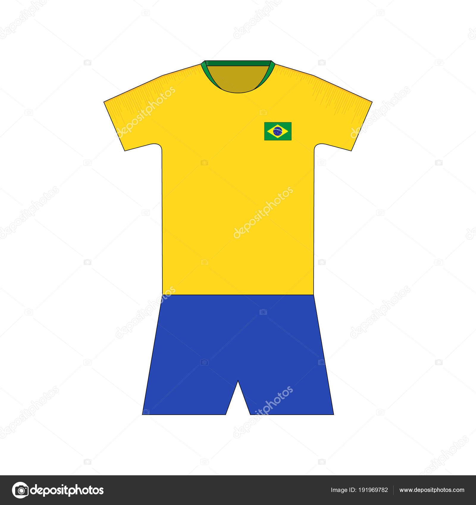680a48b2c37 Football Kit Brazil 2018 — Stock Vector © chel11  191969782