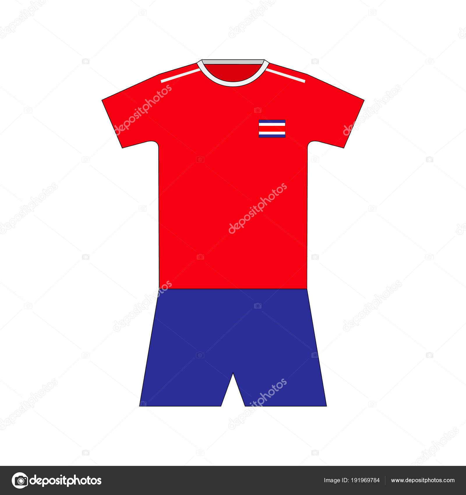 1f2eb788361 Football Kit Costa Rica 2018 — Stock Vector © chel11 #191969784