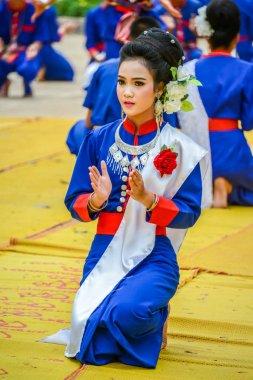 Thai northeastern Phutai dancer.