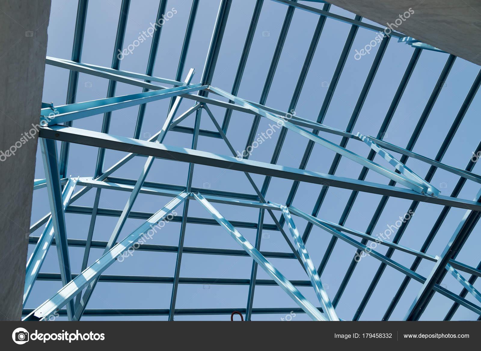 Estructura del marco de acero de la azotea para la construcción de ...