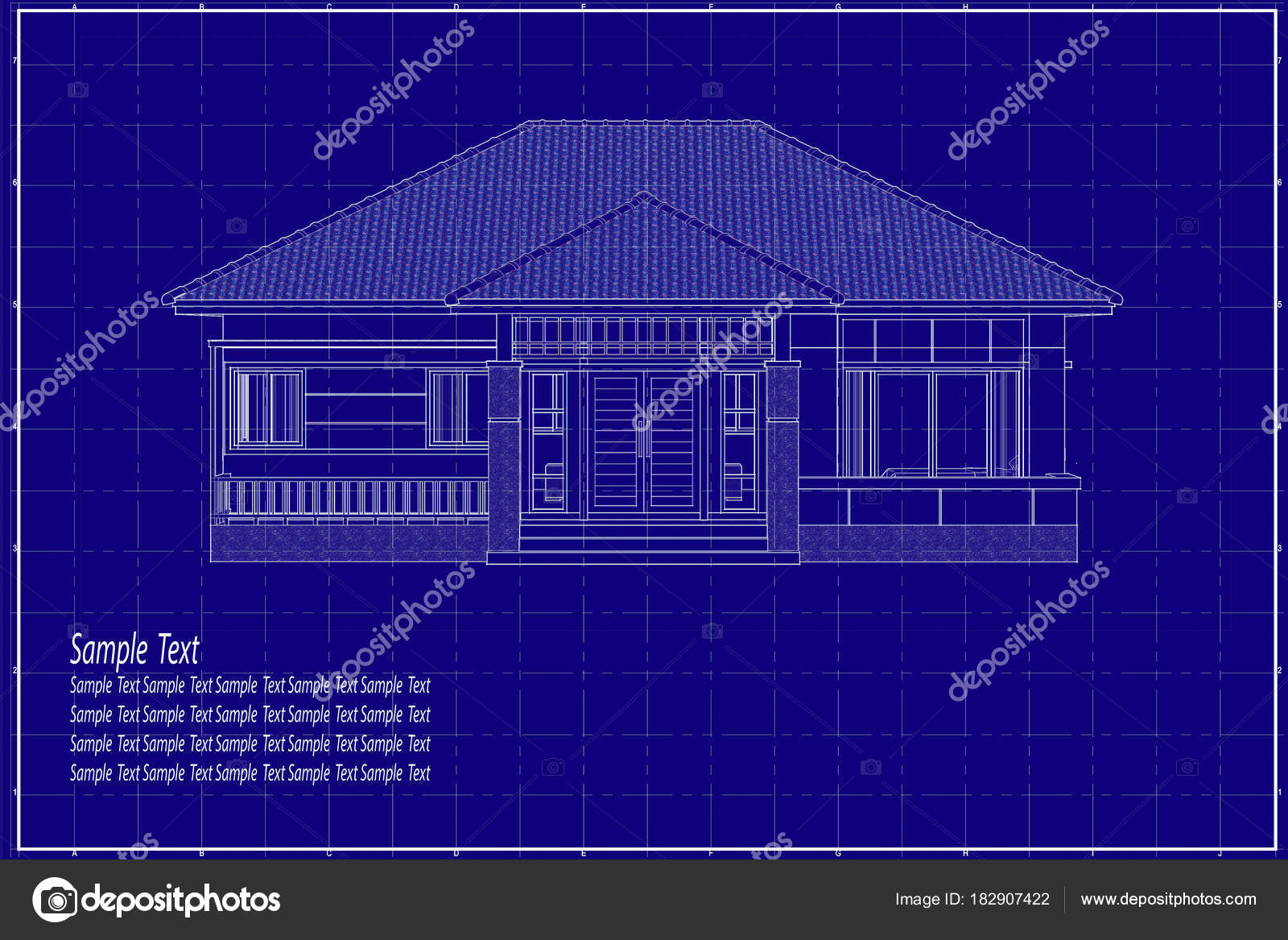 3d building on blueprint stock photo lookaod 182907422 architectural drawing elevation house on blueprint photo by lookaod malvernweather Image collections