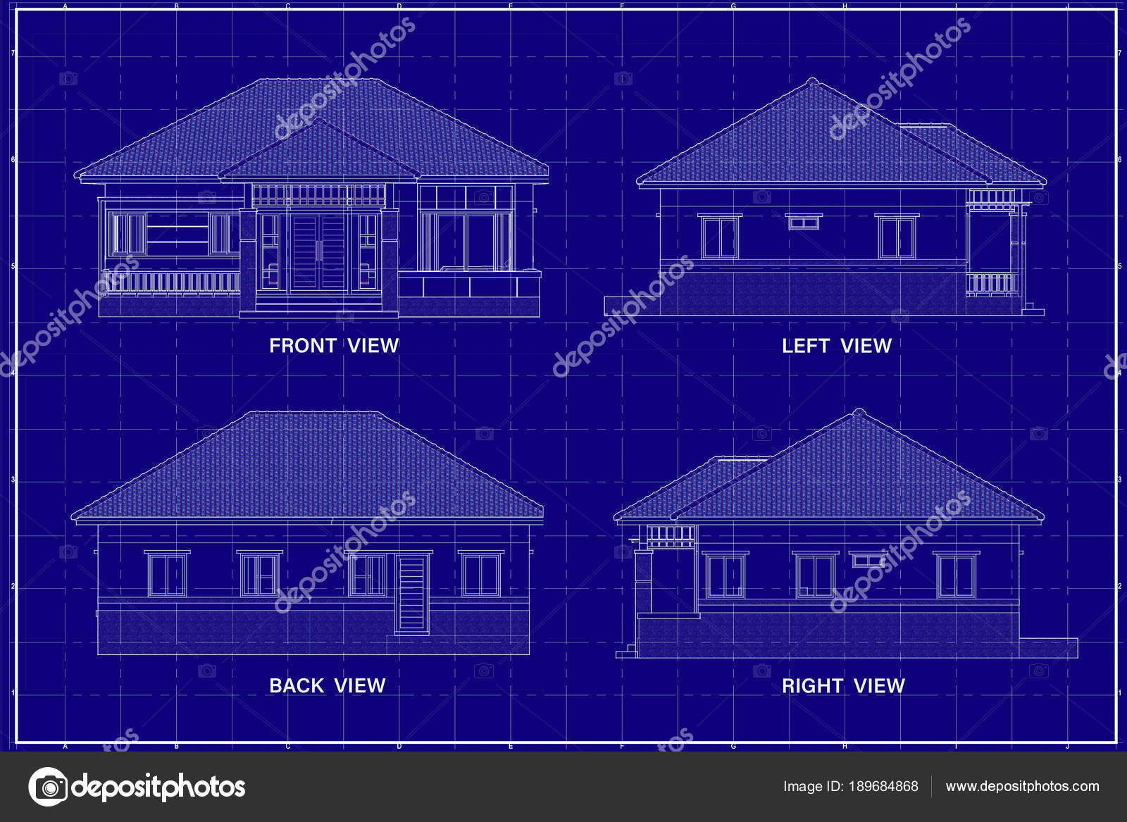 3d building on blueprint stock photo lookaod 189684868 3d building on blueprint stock photo malvernweather Image collections