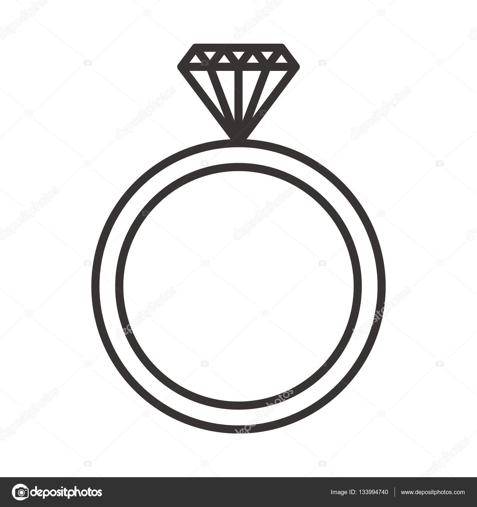 wedding ring icon — Stock Vector © everydaytemplate #133994740