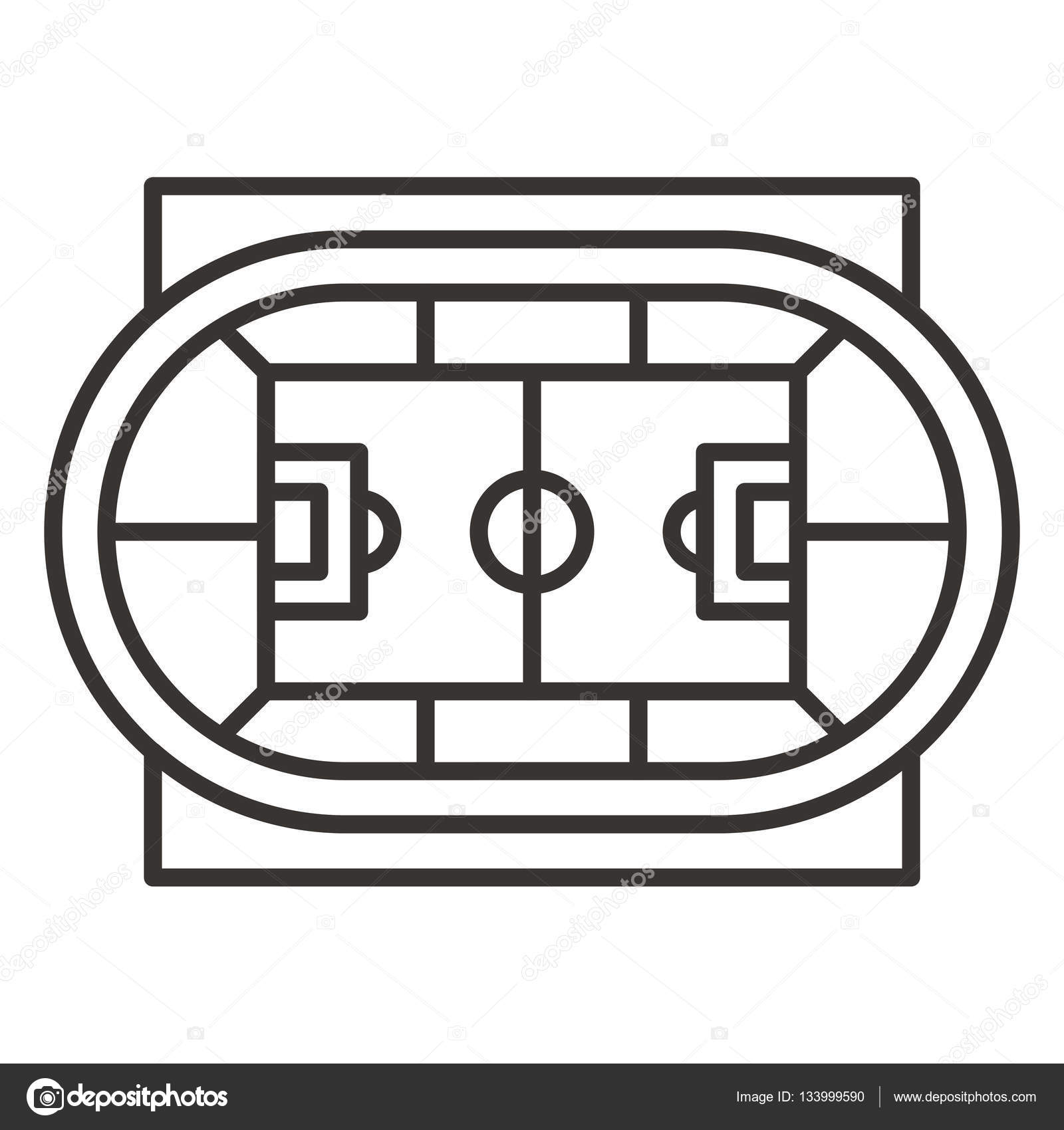 stadium icon. Stadium Top View Icon \u2014 Stock Vector #133999590