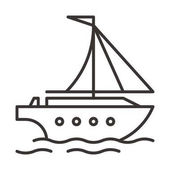 Fotografie simple yacht icon