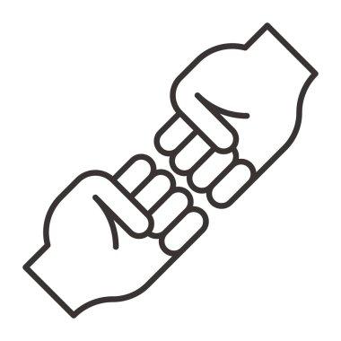 High five icon vector illustration clip art vector