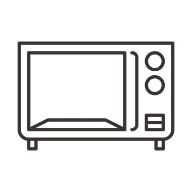 Microwave icon illustration